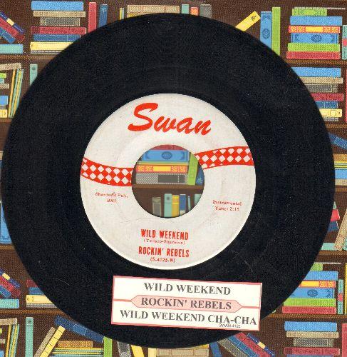 Rockin' Rebels - Rockin' Crickets/Hully Gully Rock  - EX8/ - 45 rpm Records