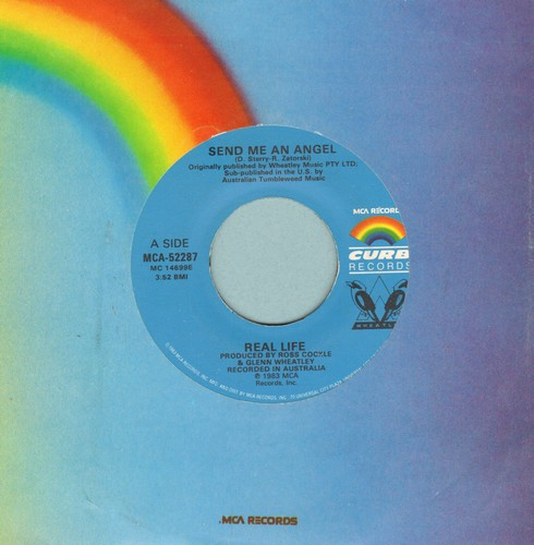 Real Life - Send Me An Angel/Like A Gun - EX8/ - 45 rpm Records