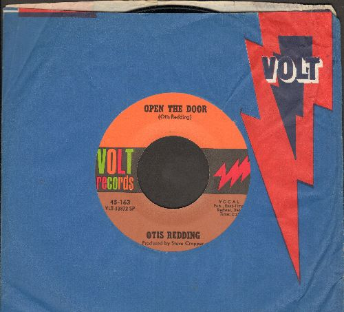 Redding, Otis - Open The Door/The Happy Song (Dum Dum)/Open The Door (MINT condition with company sleeve) - M10/ - 45 rpm Records