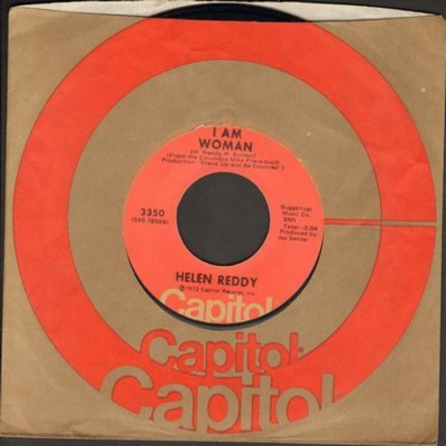 Reddy, Helen - I Am Woman/More Than You Could Take (with Capitol company sleeve) - EX8/ - 45 rpm Records