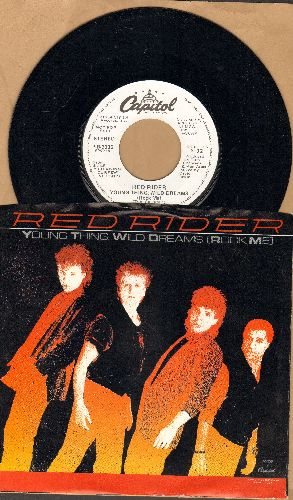 Red Rider - Young  Thing, Wild Dreams (Rock Me) (double-hit re-issue with picture sleeve) - M10/EX8 - 45 rpm Records