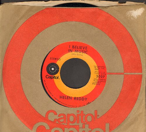 Reddy, Helen - I Believe In Music/I Don't Know How To Love Him (with Capitol company sleeve) - NM9/ - 45 rpm Records