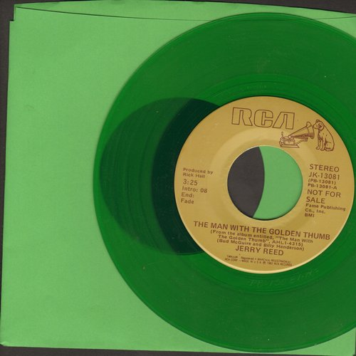 Reed, Jerry - The Man With The Golden Thumb (GREEN vilyl doube-A-sided DJ advance pressing) - M10/ - 45 rpm Records