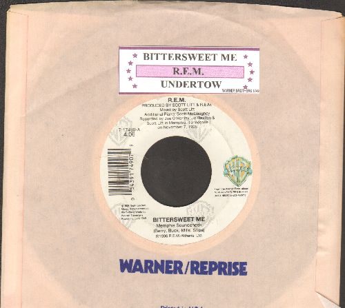 R.E.M. - Bittersweet Me/Undertow (with juke box label and company sleeve) - EX8/ - 45 rpm Records