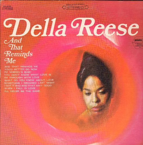 Reese, Della - And That Reminds Me: When I Fall In Love, I'm Through With Love, I'm Nobody's Baby (Vinyl STEREO LP recxord, re-issue of vintage recordings) - NM9/VG7 - LP Records