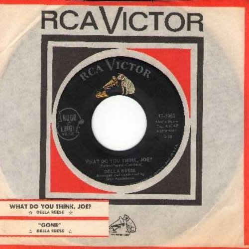 Reese, Della - What Do You Think, Joe?/Gone (with juke box label) - NM9/ - 45 rpm Records