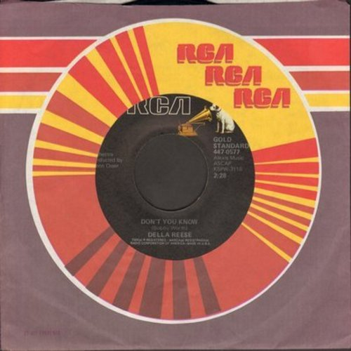Reese, Della - Don't You Know/Soldier, Won't You Marry Me? (with vintage RCA company sleeve) - NM9/ - 45 rpm Records