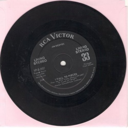 Reeves, Jim - I Fall To Pieces/(It's No) Sin (7 inch 33rpm STEREO record with small spindle hole) - EX8/ - 45 rpm Records