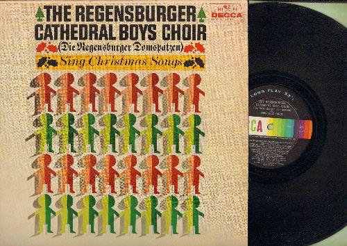 Regensburger Cathedral Boys Choir - Regensburger Domspatzen - Christmas Songs: Stille Nacht heilige Nacht, Es ist ein Ros' entsprungen, Kindelein Zart, Vom Himmel hoch da komm ich her (Vinyl MONO LP record, US Pressing, sung in German) - EX8/EX8 - LP Reco