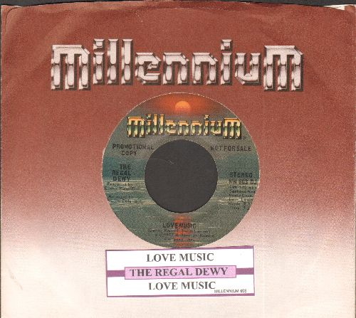 Regal Dewy - Love Music (double-A-sided DJ advance pressing with juke box label and RARE Millennium company sleeve) - NM9/ - 45 rpm Records