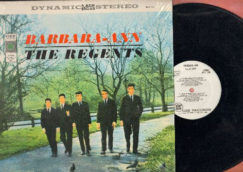 Regents - Barbara-Ann: Summertime, Sunday Kind Of Love, A Fool In Love, Lonesome Boy, Run Around, Laura (vinyl STEREO LP record, authentic-looking re-issue of vintage recordings, NICE condition!) - NM9/NM9 - LP Records