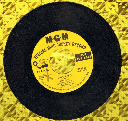 Reed, Irene - I Love Paris/Hard Headed Hannah (DJ advance pressing) - NM9/ - 45 rpm Records
