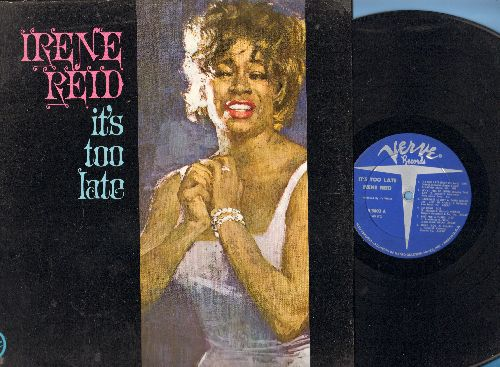 Reid, Irene - It's Too Late: Smile, That's My Desire, Big Spender, Happiness Is A Thing Called Joe (vinyl MONO LP record) - EX8/EX8 - LP Records
