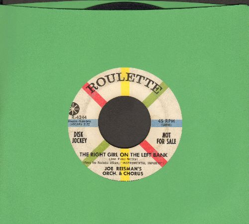 Reisman, Joe with Orchestra & Chorus - The Right Girl On The Left Bank/Chanson De Gail (Gail's Song) - VG7/ - 45 rpm Records