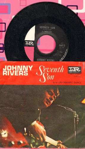 Rivers, Johnny - Seventh Son/Un-Square Dance (with picture  sleeve) - NM9/EX8 - 45 rpm Records