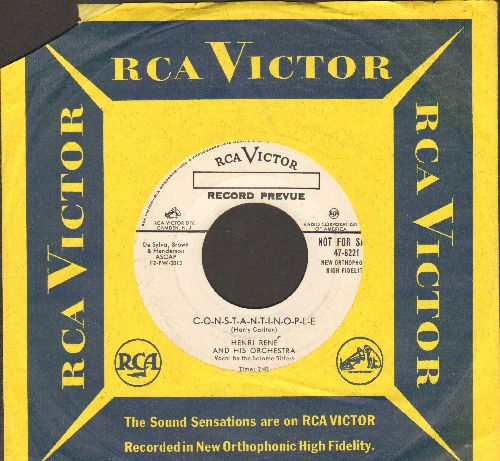 Rene, Henri & His Orchestra, Salome Sisters - C-O-N-S-T-A-N-T-I-N-O-P-L-E/Toy Tiger (DJ advance pressing with RCA company sleeve) - NM9/ - 45 rpm Records