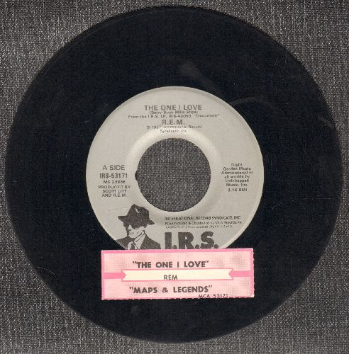 R.E.M. - The One I Love/Maps And Legends (with juke box label) - EX8/ - 45 rpm Records
