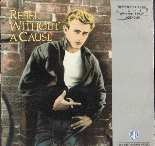 Rebel Without A Cause - Rebel Without A Cause - LASERDISC of the Classic Drama starring Natalie Wood, Oscar Nominees James Dean and Sal Mineo  - Channeled for STEREO! - NM9/EX8 - LaserDiscs