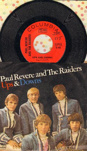 Revere, Paul & The Raiders - Ups And Downs/Leslie (with picture sleeve) - NM9/VG6 - 45 rpm Records