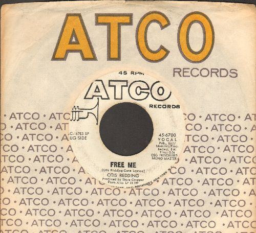 Redding, Otis - Free Me/(Your Love Has Lifted Me) Higher And Higher (DJ advance pressing with Atco company sleeve) - VG7/ - 45 rpm Records