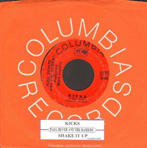 Revere, Paul & The Raiders - Kicks/Shake It Up (with Columbia company sleeve and juke box label) - VG7/ - 45 rpm Records