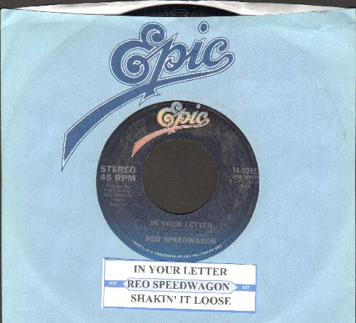 REO Speedwagon - In Your Letter/Shakin' It Loose (with juke box label and Epic company sleeve) - NM9/ - 45 rpm Records
