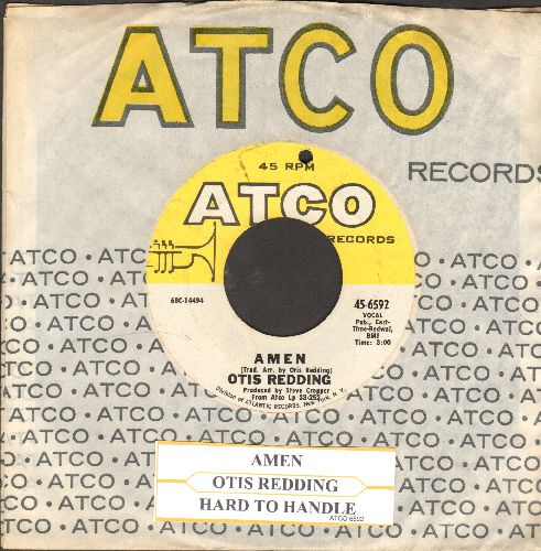Redding, Otis - Amen/Hard To Handle (with Atco company sleeve and juke box label)(bb) - EX8/ - 45 rpm Records