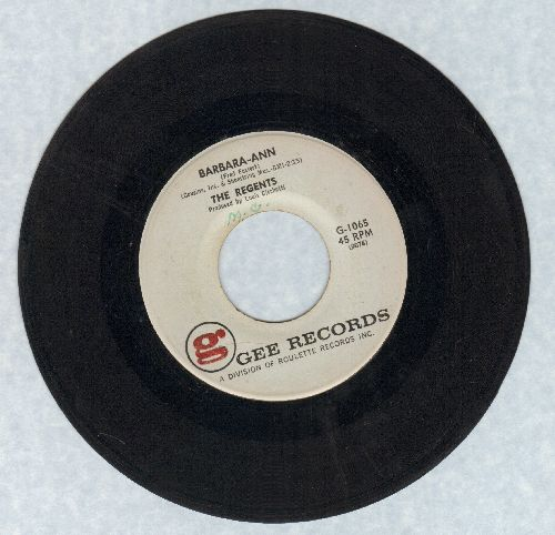 Regents - Barbara-Ann/I'm So Lonely  - EX8/ - 45 rpm Records