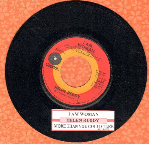 Reddy, Helen - I Am Woman/More Than You Could Take (with juke box label) - EX8/ - 45 rpm Records