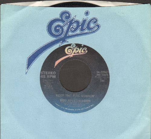 REO Speedwagon - Keep The Fire Burnin'/I'll Follow You (with Epic company sleeve) - NM9/ - 45 rpm Records