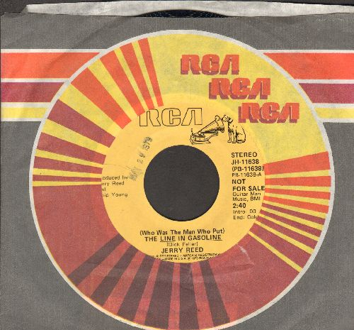 Reed, Jerry - (Who Was The Man Who Put) The Line In The Gasoline (double-A-sided DJ advance pressing with vintage RCA company sleeve)(ssol) - NM9/ - 45 rpm Records