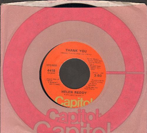 Reddy, Helen - Thank You/You're My World (with Capitol company sleve) - NM9/ - 45 rpm Records