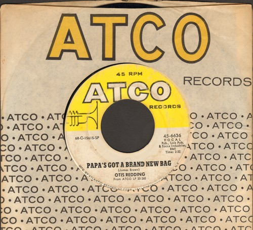 Redding, Otis - Papa's Got A Brand New Bag/Direct Me (with Atco company sleeve) - VG7/ - 45 rpm Records