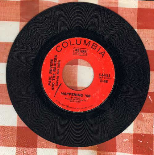 Revere, Paul & The Raiders - Happening '68/Too Much Talk - VG7/ - 45 rpm Records