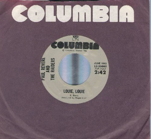 Revere, Paul & The Raiders - Louie, Louie/Louie - Go Home (double-hit re-issue with Columbia company sleeve) - NM9/ - 45 rpm Records