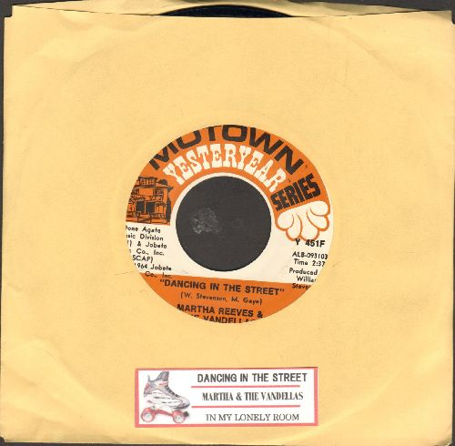 Martha & The Vandellas - Dancing In The Street/In My Lonely Room (double-hit re-issue with juke box label) - NM9/ - 45 rpm Records