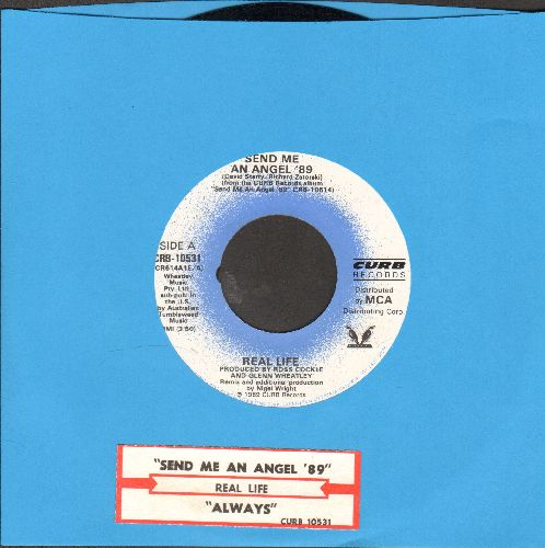 Real Life - Send Me An Angel/Like A Gun (with juke box label) - EX8/ - 45 rpm Records