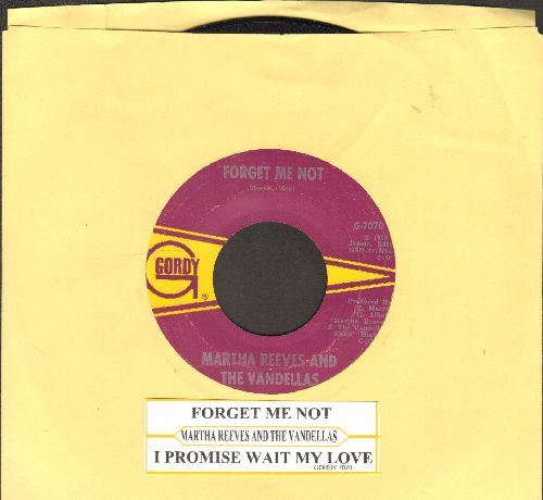 Reeves, Martha & The Vandellas - Forget Me Not/I Promise To Wait My Love (with juke box label) - VG7/ - 45 rpm Records