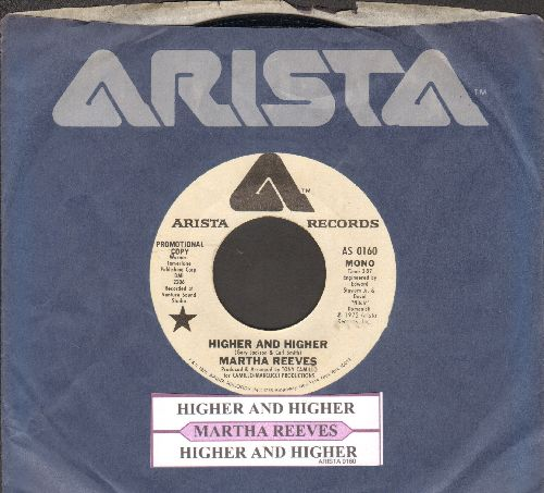 Reeves, Martha - Higher And Higher (double-A-sided DJ advance pressing with juke box label and Arista company sleeve) - NM9/ - 45 rpm Records