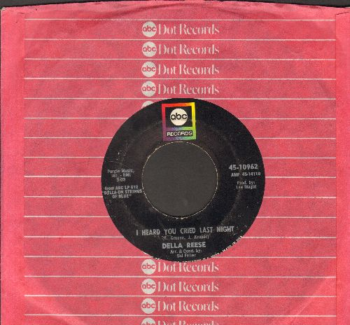 Reese, Della - I Heard You Cried Last Night/On The South Side Of Chicago (with ABC company sleeve) - EX8/ - 45 rpm Records