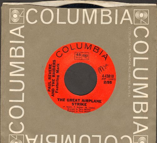 Revere, Paul & The Raiders - The Great Airplane Strike/In My Community (with Columbia company sleeve, minor wol) - NM9/ - 45 rpm Records