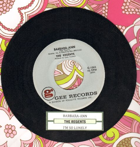 Regents - Barbara-Ann/I'm So Lonely (NICE condition with juke box label) - NM9/ - 45 rpm Records