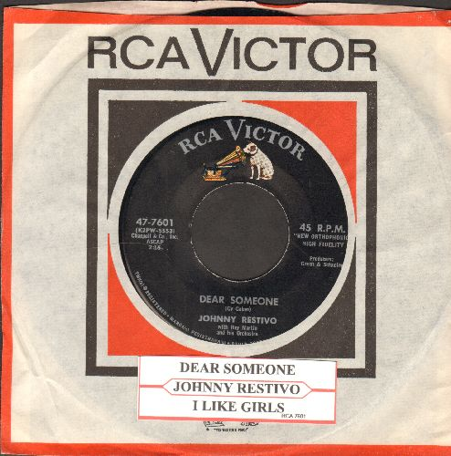 Restivo, Johnny - Dear Someone/I Like Girls (with RCA company sleeve and juke box label) - NM9/ - 45 rpm Records