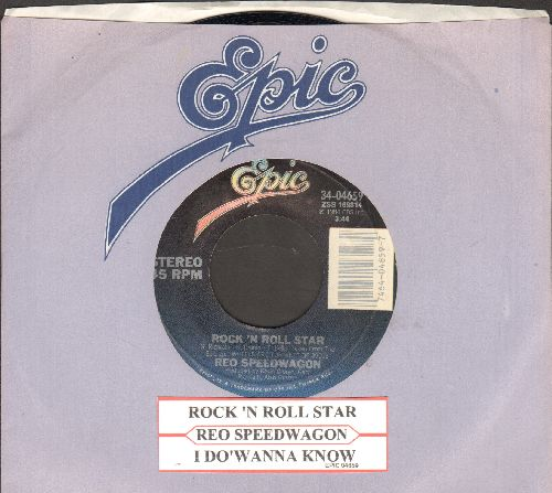 REO Speedwagon - Rock 'N Roll Star/I Do'wanna Know (with juke box label and Epic company sleeve) - NM9/ - 45 rpm Records