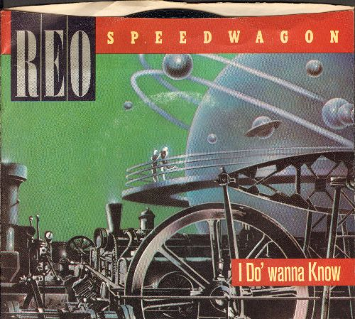 REO Speedwagon - I Do' Wanna Know/Rock 'N Roll Star (with picture sleeve) - NM9/EX8 - 45 rpm Records