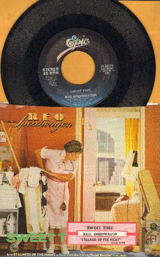REO Speedwagon - Sweet Time/Stillness Of The Night (with picture sleeve) - EX8/VG7 - 45 rpm Records
