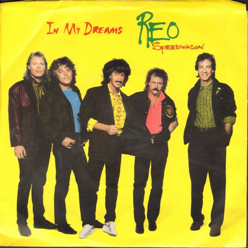 REO Speedwagon - In My Dreams/Over The Edge (with picture sleeve) - NM9/NM9 - 45 rpm Records