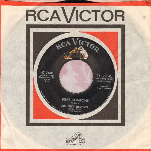 Restivo, Johnny - Dear Someone/I Like Girls (NICE condition with RCA company sleeve) - EX8/ - 45 rpm Records