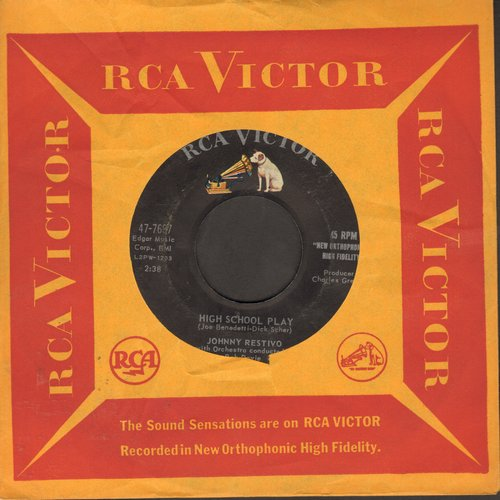 Restivo, Johnny - High School Play/But I Love You (with vintage RCA company sleeve) - VG7/ - 45 rpm Records