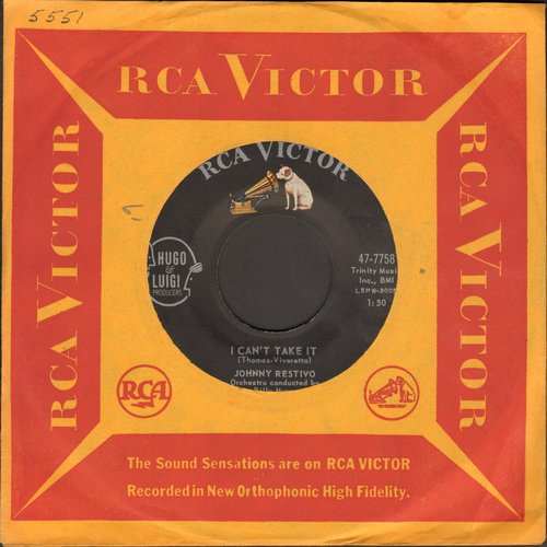 Restivo, Johnny - I Can't Take It/That's Good - That's Bad (with vintage RCA company sleeve) - NM9/ - 45 rpm Records